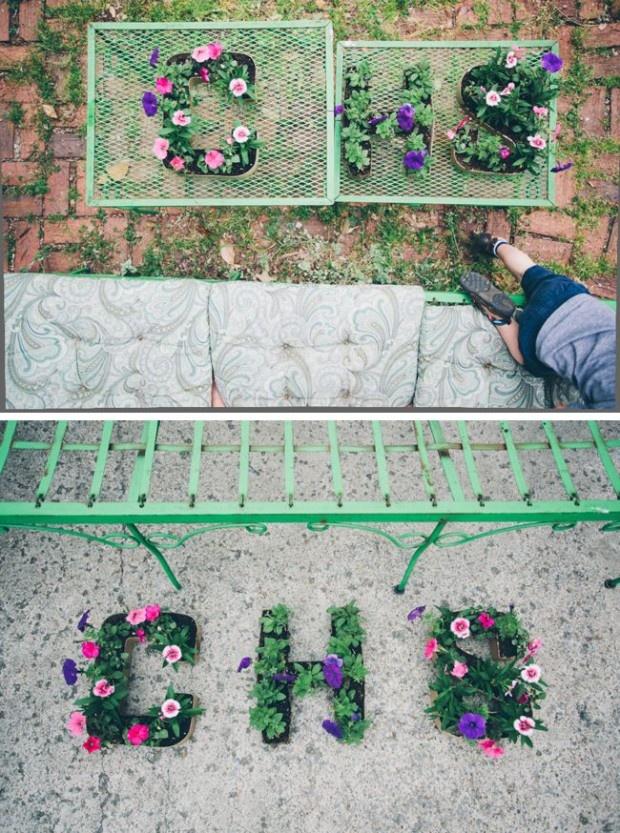DIY Initial Letter Planters cute cute cute!!! :)