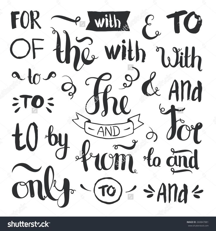Vector Hand Drawn Ampersands And Catchwords The With From Only HandVector VectorCalligraphy FontsAdobe