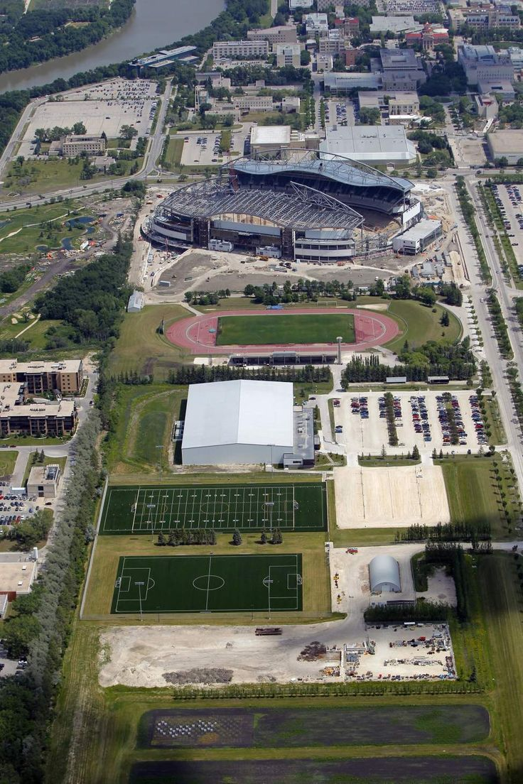 Investors Group Field - future home of the Winnipeg Blue Bombers. At the University of Manitoba, from above. July 3, 2012  (BORIS MINKEVICH / WINNIPEG FREE PRESS)