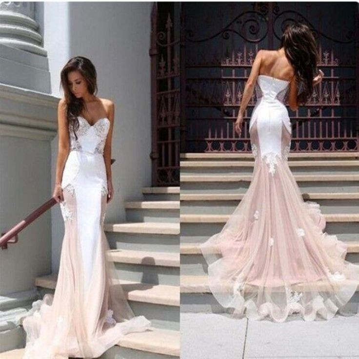 Tulle Sweetheart Mermaid Wedding Dress Evening Gown