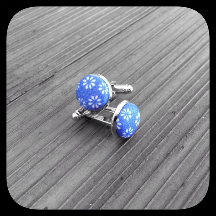 Cornflower Dream: Small Cufflinks