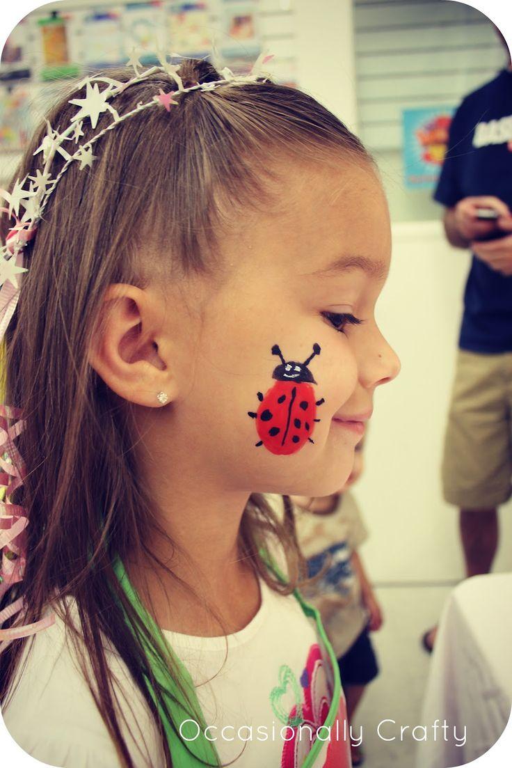 Kara Bday Face Painting - ladybug