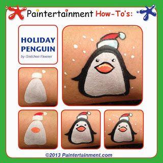 Christmas cheek art by Gretchen Fleener www.Paintertainment.com