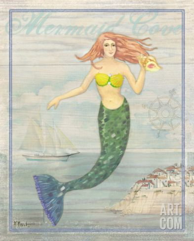 Mermaid Cove Art Print by Paul Brent at Art.com