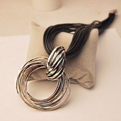 $6.18 Simple Loopy Pendant Multi-Layered Necklace For Women