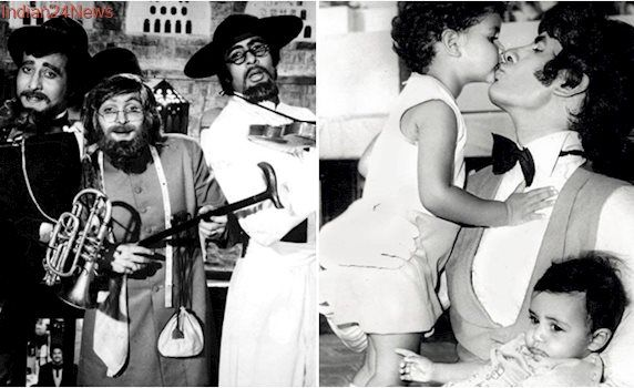 40 years of Amar Akbar Anthony: Amitabh Bachchan shares rare photo when Abhishek and Shweta visited him on sets