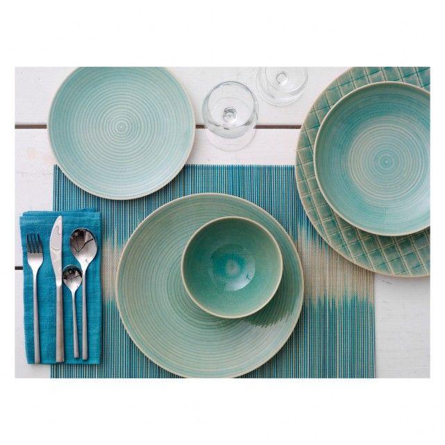 DUNAS Blue side plate D21cm   Buy now at Habitat UK