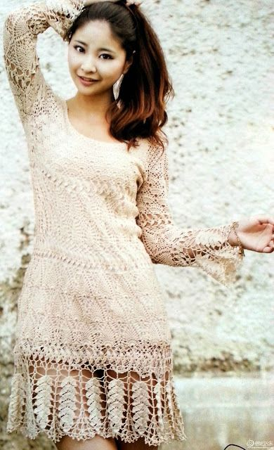Ivelise Feito à Mão: Vestido Lindo De Crochê