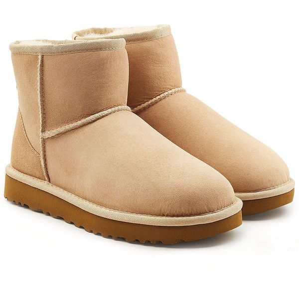 1c66e0d4317 UGG Australia Classic Mini Suede Boots ($175) ❤ liked on Polyvore ...
