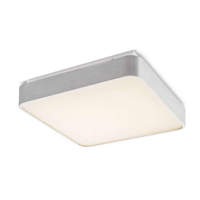 MENSA SQ CEILING | rendl light studio | Square LED ceiling light with a lacquered aluminum frame. Delivered with a diffuser of frosted polycarbonate. #lamp #ceiling #aluminum #LED