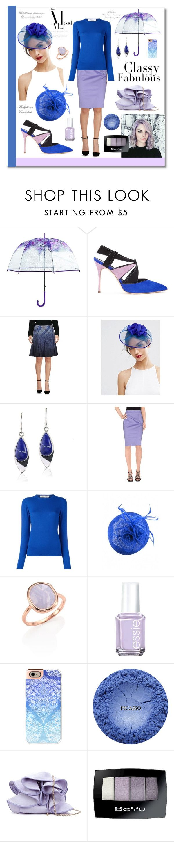 """""""Cobalt Blue and Lilac"""" by magnolialily-prints ❤ liked on Polyvore featuring Vera Bradley, Manolo Blahnik, Blue Les Copains, ASOS, Lazuli, Les Copains, Edamame, Monica Vinader, Essie and Casetify"""