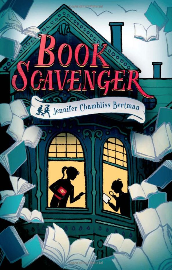 books4yourkids.com: Book Scavenger by Jennifer Chambliss Bertman, illustrated by Sara Watts, 350 pp, RL 4. A marvelously well written mystery that weaves in so many other fascinating plot threads, from geocaching to cryptography to Poe to blogging about moving from state to state.