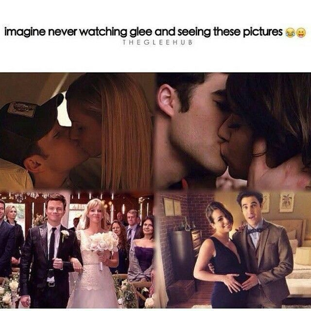 You would think kurt and Brittany are together and Blaine and Rachel are together, neeevvvveeeer