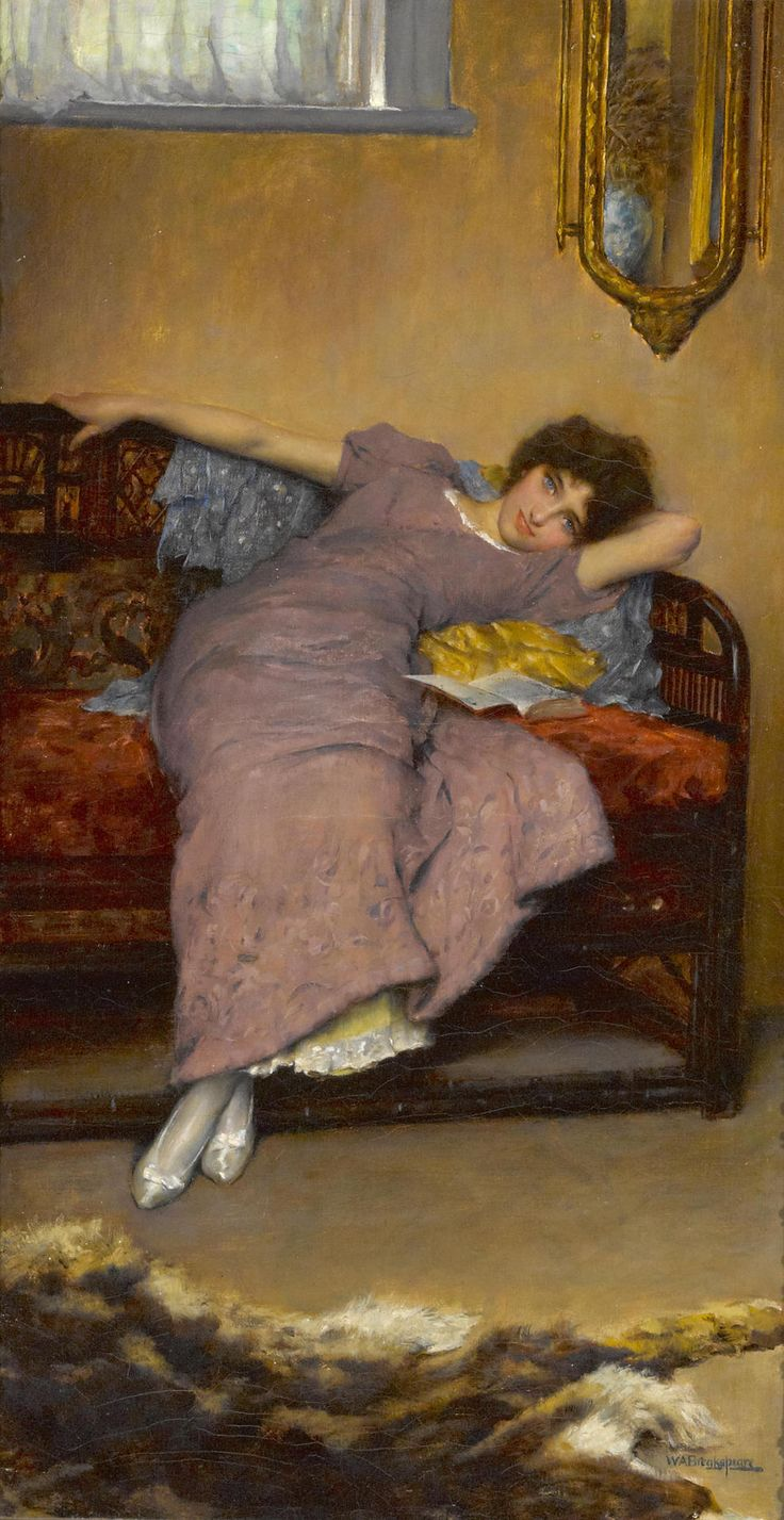 Blue Eyes. William A. Breakspeare (British, 1855-1914). Oil on canvas.