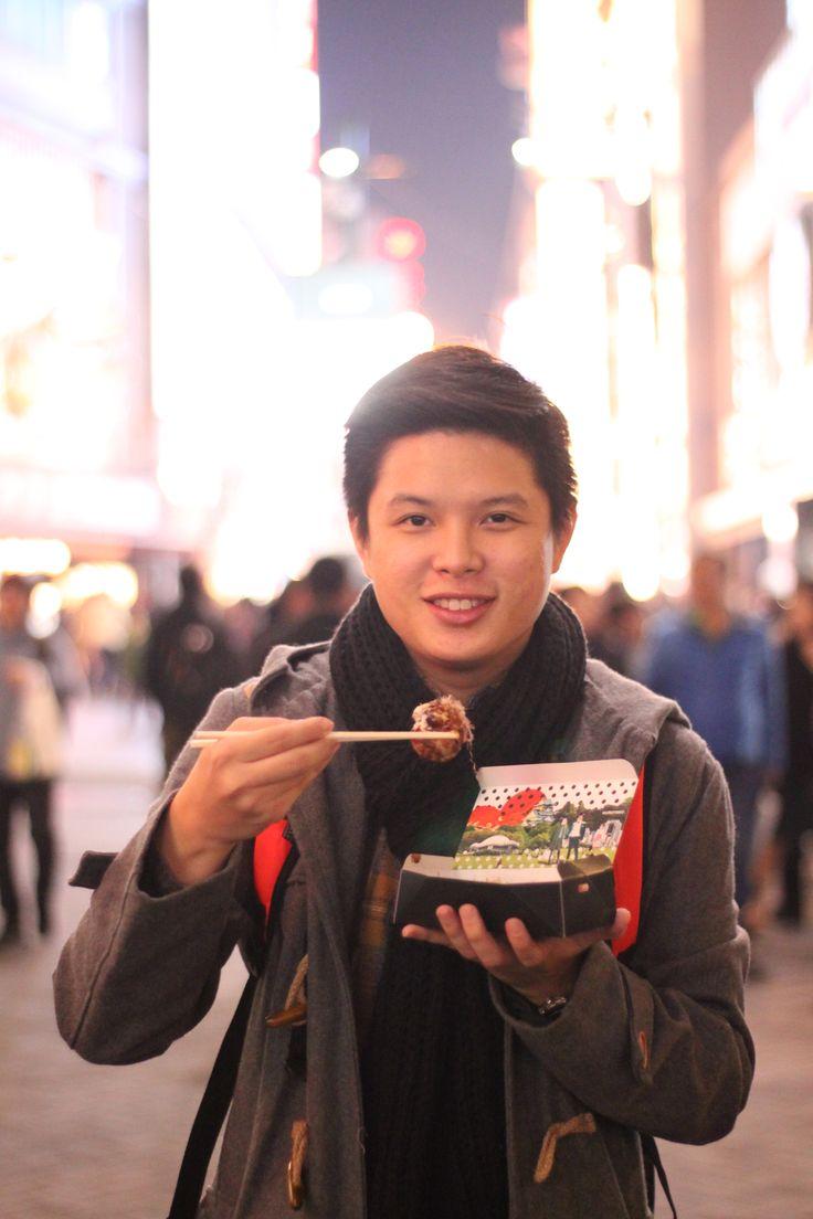 try the takoyaki from kurotako, 8pcs for 700 yen
