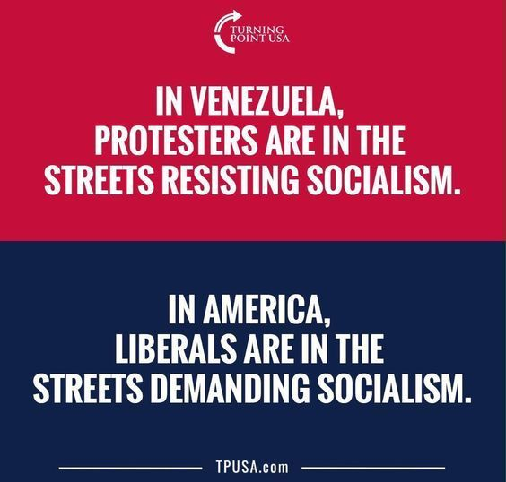 Because no American liberal has ever lived in a place like Venezuela. They speak fluent PC rhetoric and spout campus coffeehouse philosophy while living on money earned by someone else.