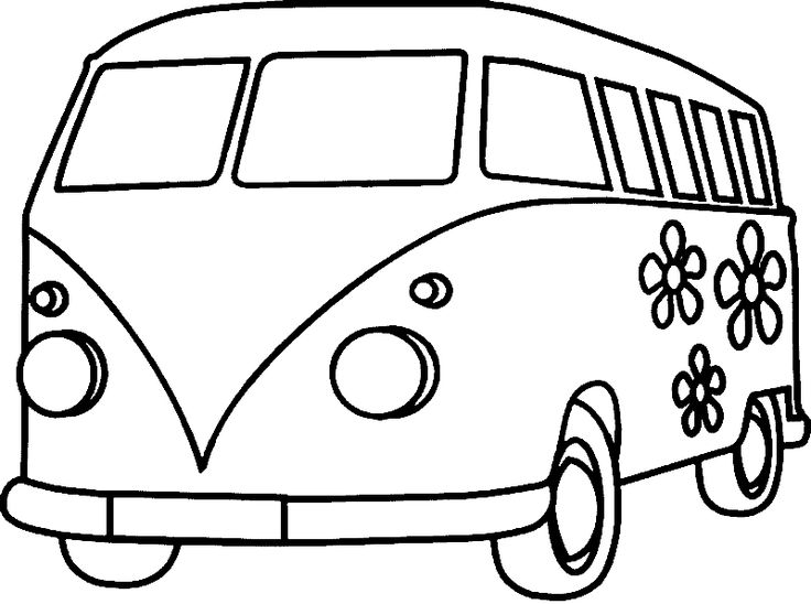 Line Drawing Van : Best vw bus images on pinterest drawings coloring