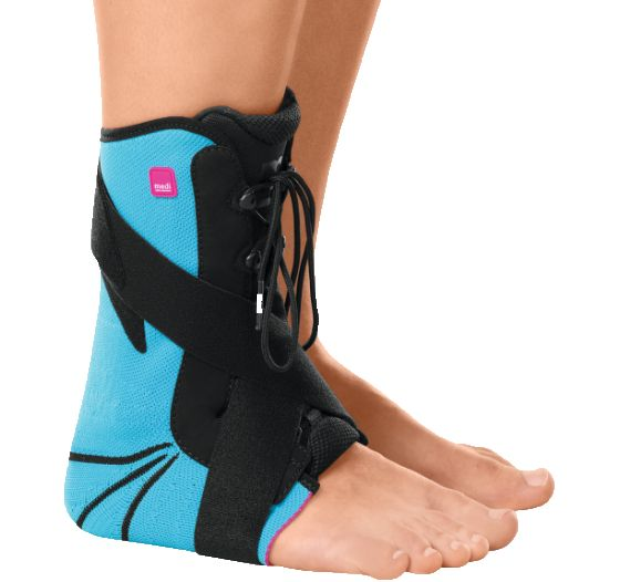 Levamed stabili-tri, Triple-action modular orthosis for the functional care of ankle injuries. IndicationsAnkle sprains (grades 1 to 3)Chronic instability of the talocrural and subtalar jointsPostoperative care after surgery on the ligamentous apparatus of the ankle jointMode of actionModular d