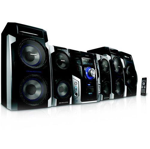 Mini System - FWM996 - 800W RMS, Funo Karaok, Tray w / 3-CD, USB ja MP3 link-toiminto Ripa All - Philips