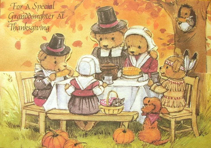 Thanksgiving Special Granddaughter Teddy Bear Pilgrim