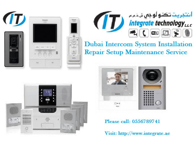 Door intercom commax installation in nad al shiba Dubai