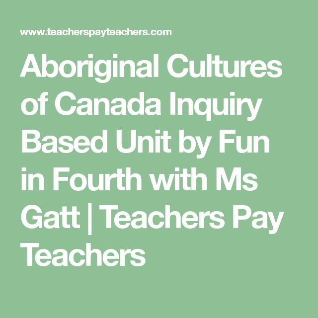 Aboriginal Cultures of Canada Inquiry Based Unit by Fun in Fourth with Ms Gatt | Teachers Pay Teachers
