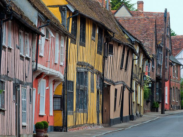 Medieval street by Dale Reynolds on Flickr. Lavenham, Suffolk, England, UK