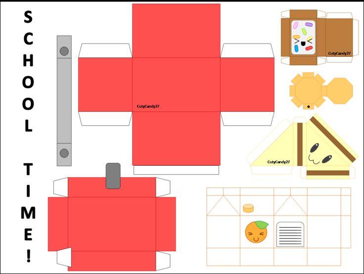School Time Lunch Papercraft by CutyCandy27.deviantart.com on @DeviantArt