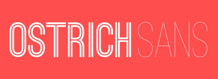 Ostrich Sans is a lovely sans serif typeface with a lot to offer. It has a number of styles and weights including dashed, rounded, ultra light, normal, bold, black, inline, and heavy – which allows you to use the same typeface in a variety of different ways to draw attention to your headlines.