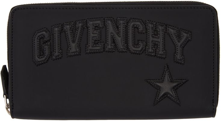 Givenchy - Black Embossed Logo Continental Wallet