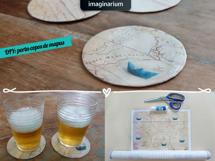 Pra desvendar o mapa da criatividade é fácil! Só vir com a gente e aprender a fazer um porta-copos com os mapas da nova campanha lá no blog!