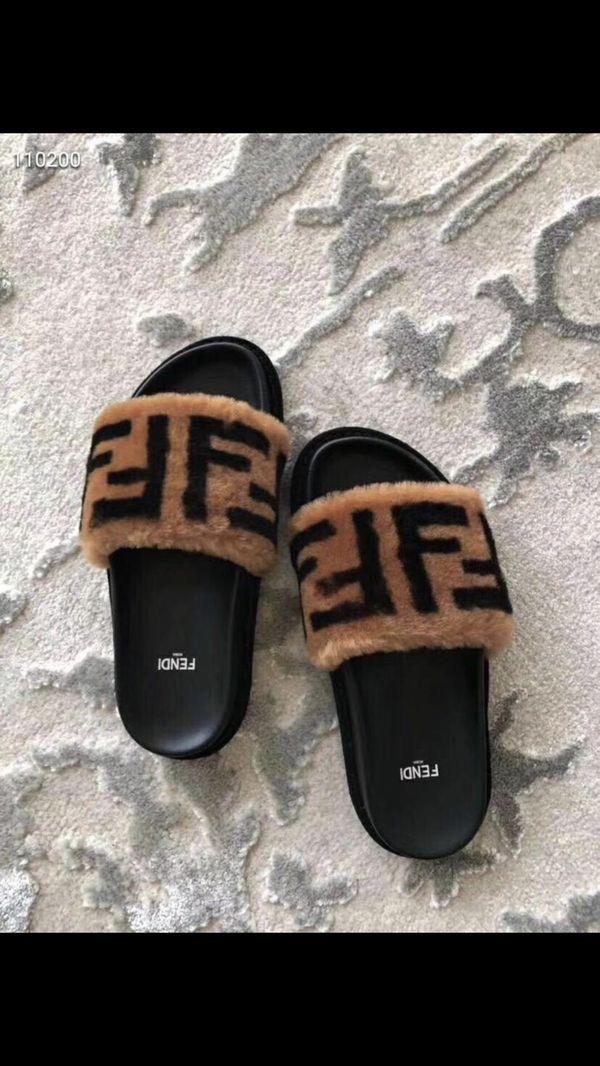 Designer slippers, Nike sneakers