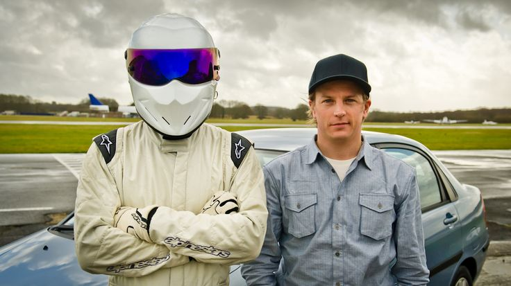 Kimi at TopGear with The Stig
