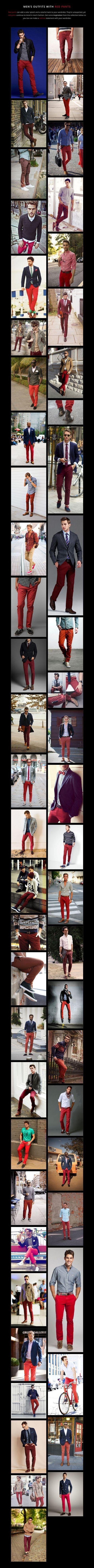 Combinaciones con pantalón rojo