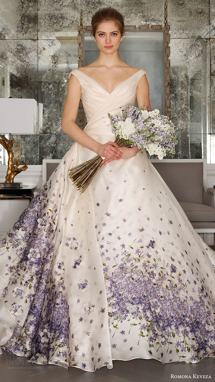 romona keveza bridal spring 2017 strapless sweetheart trumpet wedding dress (rk7408) off shoulder vneck ball gown wedding dress (rk7409) mv violet color print