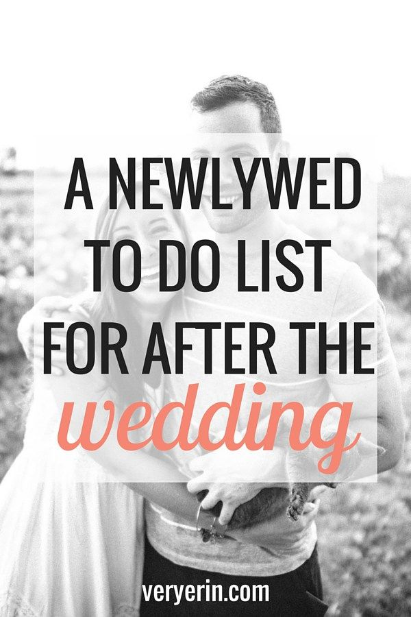 Newlywed To Do List for After the Wedding