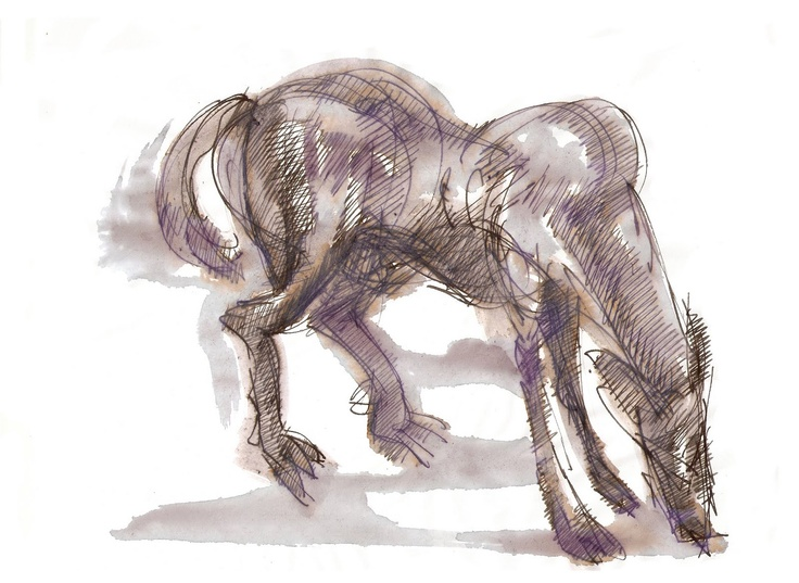 Mono González, dibujo a tinta