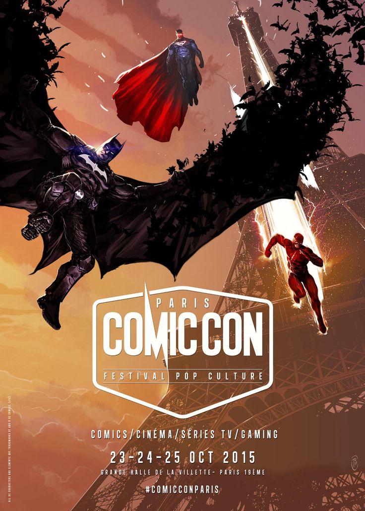 Comic Con Paris 2015 : Batman, Superman et Flash devant la Tour Eiffel sur l'affiche - News films Festivals - AlloCiné