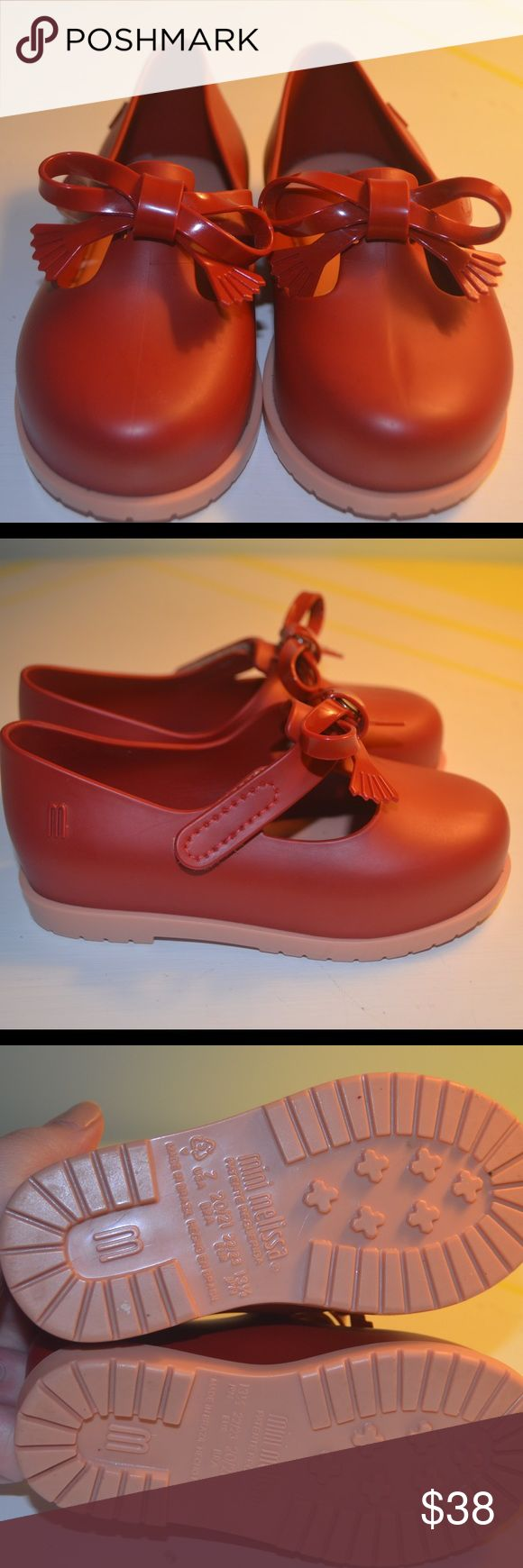 Mini Melissa Mini Melissa! Used once,I live in a very cold weather so they will not fit my daughter when the summer comes. No low offers,price is firm! Like new!!! They are perfect! Mini Melissa Shoes