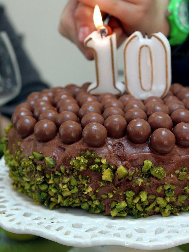 Gâteau d'anniversaire (très) au chocolat
