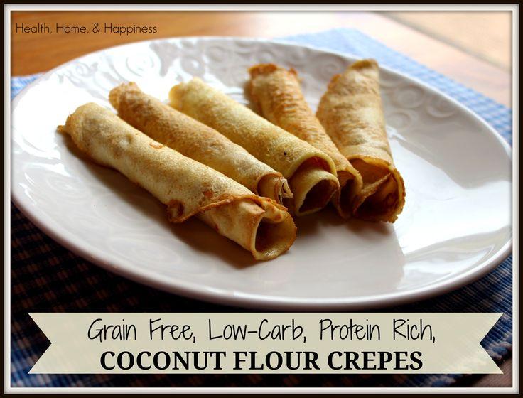 Coconut flour crepes