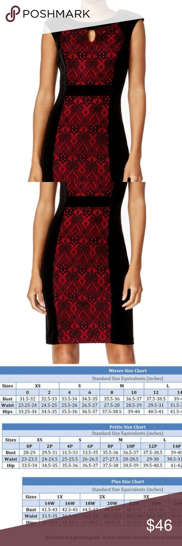 CONNECTED APPAREL NEW BLACK RED 4P PETITE DRESS CONNECTED APPAREL NEW BLACK RED 4P PETITE CROCHET LACE SHEATH DRESS         RETAIL PRICE  $79.00      Brand:Connected Apparel Condition:New with tags   Size (Women's): 4P Sleeve Style: Cap Sleeve Occasion: Cocktail Style: Sheath Dress Length: Above Knee, Mini Material: Nylon Zipper: Back Zipper   100% Authentic Connected Apparel® 88% Nylon 12% Spandex Connected Apparel Dresses Midi