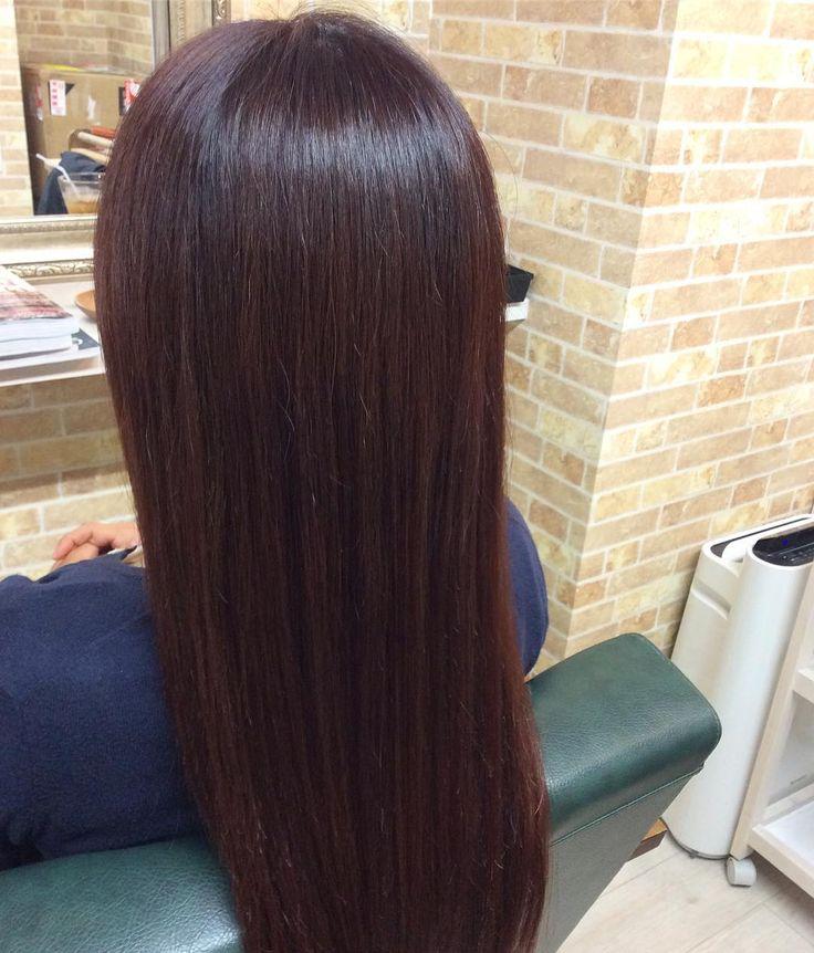 本日のお客様 アッシュ系から秋色のバイオレットピンクにカラーしました(o) ツヤ感がでてロングヘアをキレイにキープできていますね いつもご来店ありがとうございます #creer_for_hair #ピンク #バイオレット#鴨池 #美容室#鹿児島市#秋カラー