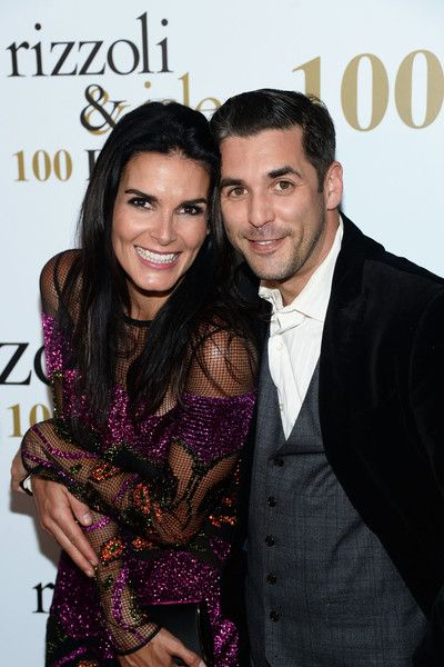 """Angie Harmon Photos - Actors Angie Harmon (L) and Jordan Bridges attends the 100 episode celebration of TNT's """"Rizzoli and Isles"""" at Cicada on July 9, 2016 in Los Angeles, California. - 100 Episode Celebration of TNT's 'Rizzoli and Isles' - Arrivals"""