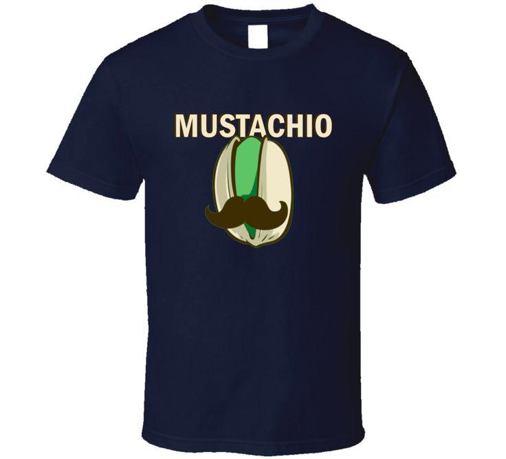 Mustachio Pistachio Parody Cute Funny Graphic T Shirt