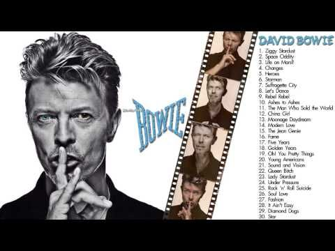 DAVID BOWIE ♪ David Bowie Greatest Hits ✫ The Best of David Bowie ★ Play...