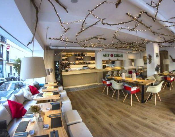 Restaurante Art & Sushi. Recomendable restaurante de corte asiático en Chamberí, zona metro Bilbao en Madrid