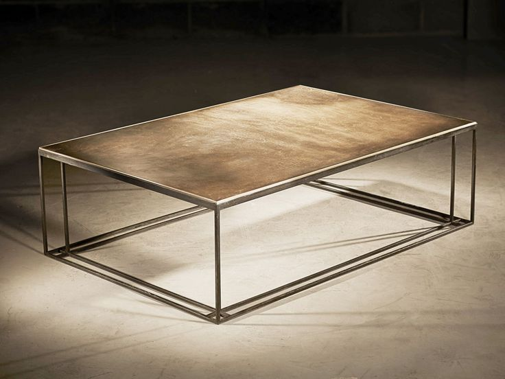 low rectangular brass coffee table brass binate by novocastrian - Design Living Room Tables