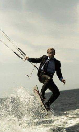 Robby Naish at business-suit-kiting