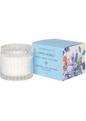 Mrs Darcy Lapis Lazuli Hibiscus, Violet & Nectarine Crystal Candle